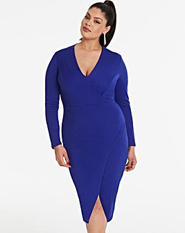 Simply Be by Night Wrap Dress