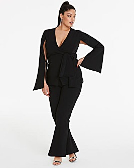 Simply Be By Night Cape Blazer