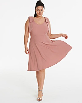 Simply Be By Night Bow Detail Dress