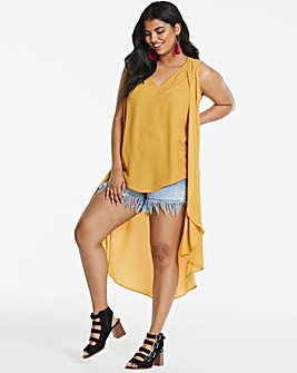 Koovs Dipped Back Blouse