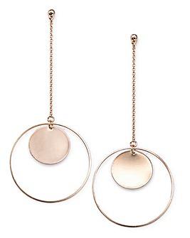 Inner Circle Drop Earrings