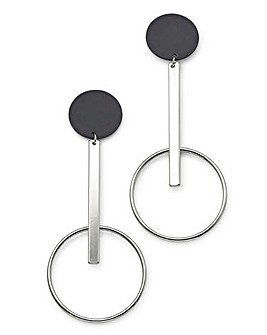 Concept by JDW Circle Drop Earrings