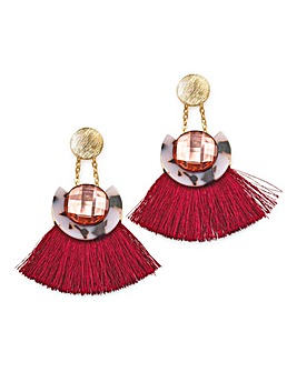 Disc Tassel Earrings