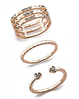 Rhinestone Ring Pack