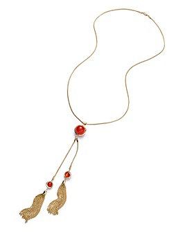 Ball And Tassle Necklace