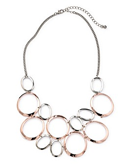 Joanna Hope Metal Ring Necklace