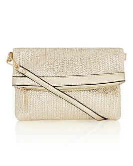 Oasis Sunshine Straw Clutch Bag