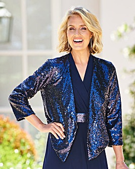 Nightingales Sequin Waterfall Jacket