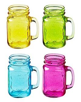 Jam Jar Handled Glasses Set of 4