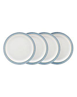 Denby Elements set of 4 Medium Plates