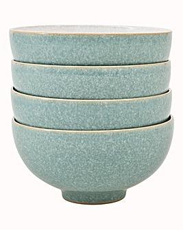 Denby Elements set of 4 Rice Bowls