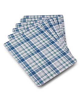 Denby Check Placemats 6 Blue/Green