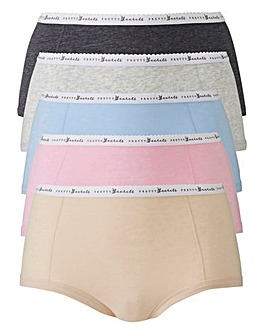 5 Pack Pretty Secrets Banded Marl Shorts
