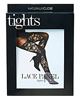 Lace Panel Tights