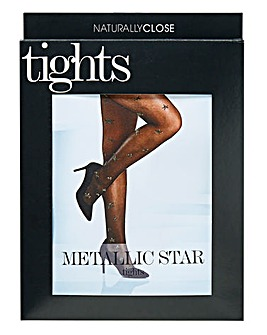 Metallic Star Tights