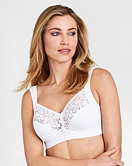 Miss Mary Cotton Lace Non Wired Bra