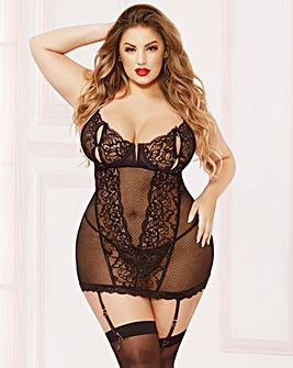 Seven Til Midnight Bow Chemise Set