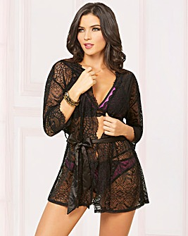 Seven Til Midnight Lace Robe