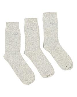 Pringle 3 Pack Jean Gentle Grip Socks