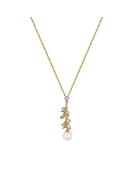 Alan Hannah Navette Twist Pearl Necklace