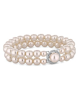 Jon Richard Double Row Pearl Bracelet