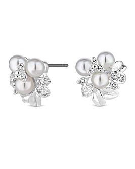 Jon Richard Pearl Cluster Stud Earring