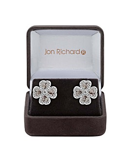 Jon Richard Clover Leaf Earring