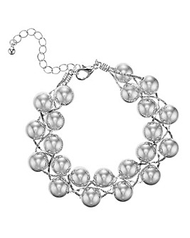 Mood Silver Ball Twist Bracelet