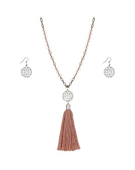 Mood Beaded Tassel Jewellery Set