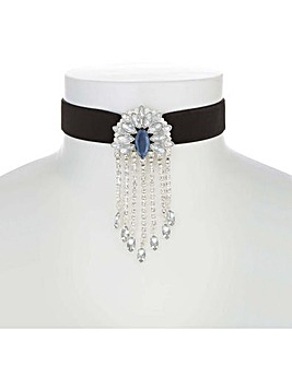 Mood Crystal Fan Droplet Choker