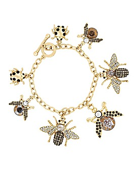 Mood Crystal Bee Charm Bracelet