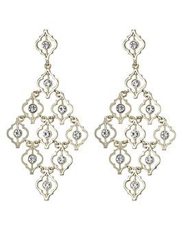 Mood Ornate Crystal Chandelier Earring