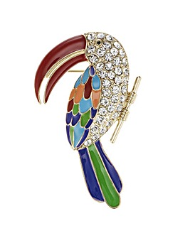 Mood Crystal Tropical Bird Brooch