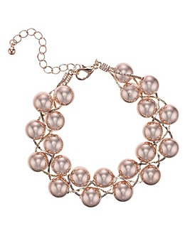 Mood Rose Gold Ball Twist Bracelet