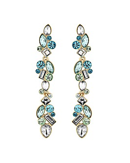 Jon Richard Tonal Green Crystal Earring