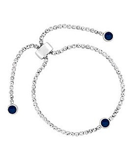 Jon Richard Diamante Toggle Bracelet