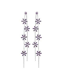 Jon Richard Floral Linear Drop Earring