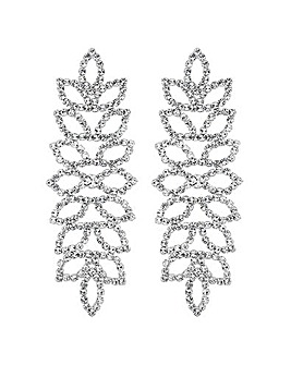 Mood Crystal Leaf Chandelier Earring