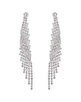 Mood Diamante Twist Drop Earring