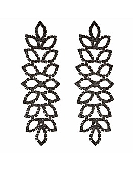 Mood Diamante Leaf Earring