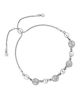 Jon Richard Pave Ball Toggle Bracelet