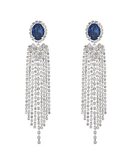 Mood Oval Diamante Drop Earring