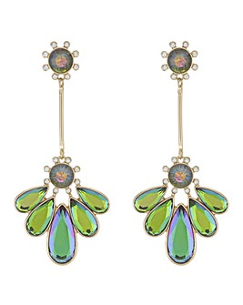 Mood Crystal Petal Drop Earring