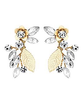 Alan Hannah Crystal Vine Earring