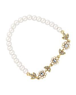 Alan Hannah Floral Pearl Bracelet