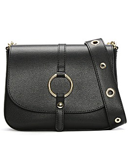Daniel Map Leather Saddle Bag