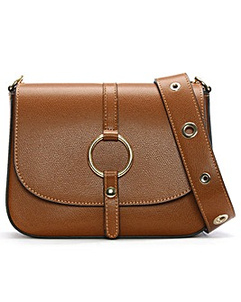 Daniel Map Leather Saddle Bag