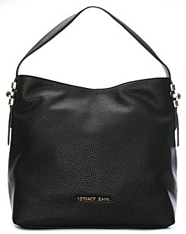 Versace Jeans Pebbled Faux Leather Hobo