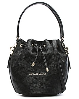 Versace Jeans Pebbled Draw Bucket Bag