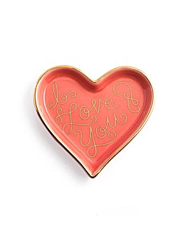 Rosanna I Love You Heart Shape Tray
